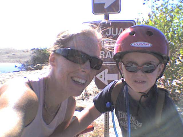 Sam and mom on a big adventure!
