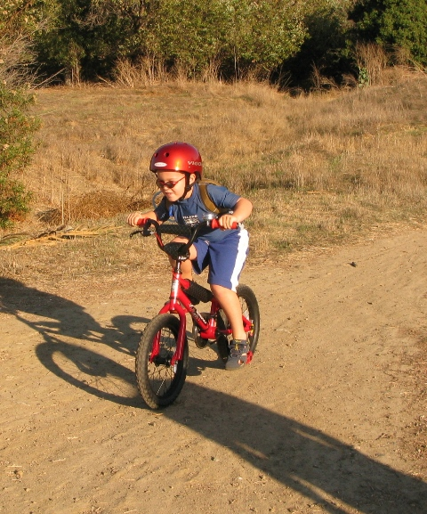 Here's Sam on his new bike which we'll keep at Gramma and Richard's!
