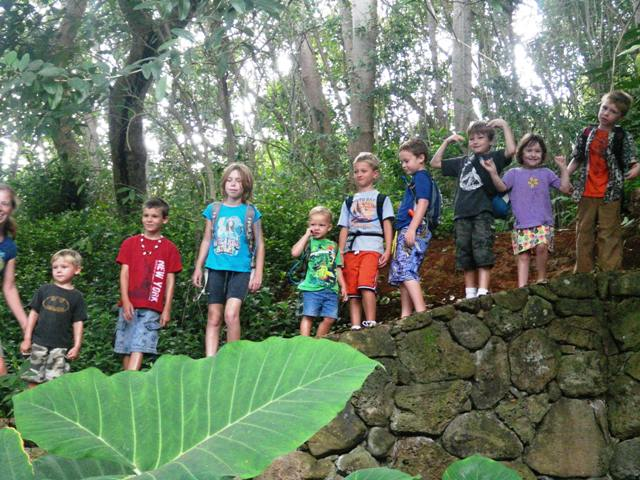 Great end to Fall Break - hiking with school buddies. (9 kids under 9!)