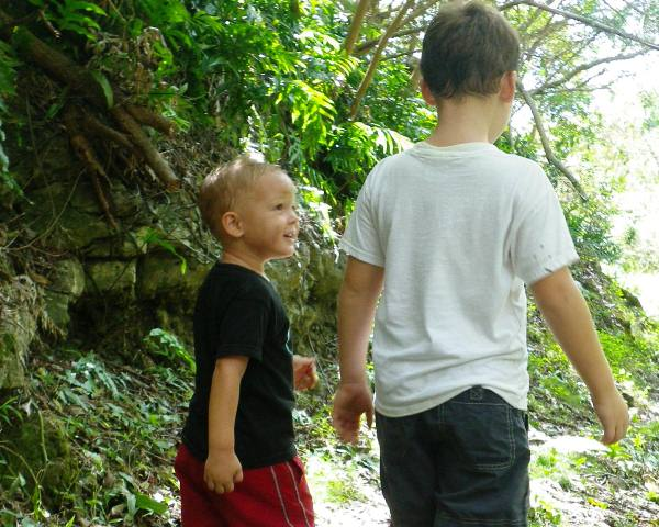 Boys finding opportunities to be friends every now and then. Precious to see! Click for more pictures of precious-ness.