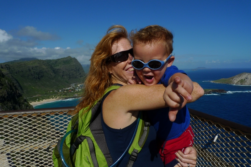 This is such a classic Ben picture I had to include it. We hiked up to Makapu'u Lighthouse on Tues looking for whales...spotted quite a few spouts! Tamara and her family got to see some breaching later from Lanai Lookout.