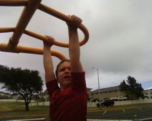 Sam has worked so hard to master monkey bars for the past year. I admire your strength and persistence so much, Sam.