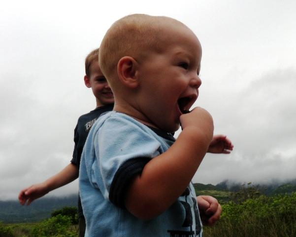 "Ben's first ""hike""!"