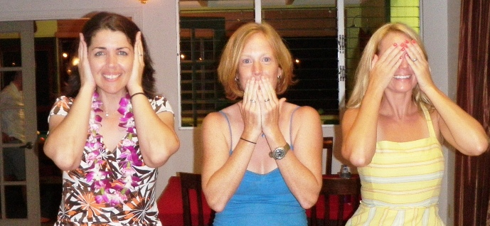 hear no evil, speak no evil, see no evil!