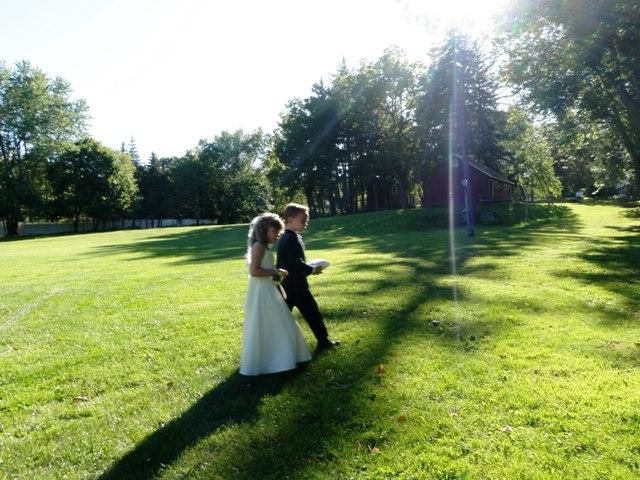 Ringbearer (Sam) and flower girl (Amanda) after the ceremony.