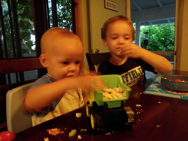 Eating out of trucks :)