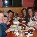 Dinner with our long time friends John, Christine and kids!