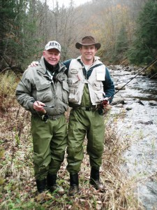 Doug and Dad out fishing in VT.
