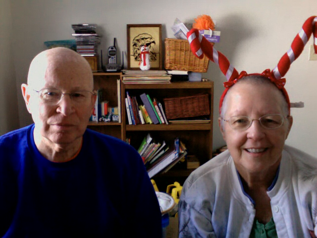 "Another Skype ""snowball"" fight with Grammie and Grandpa enjoying 16"" in NJ!"