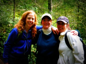 A new A team! Adding my dear friend Amy to the mix, and getting a chance to see April once again. This trail has lots of good memories from hikes when Sam was a baby - with Molly, Jenni, Becca...love you all!