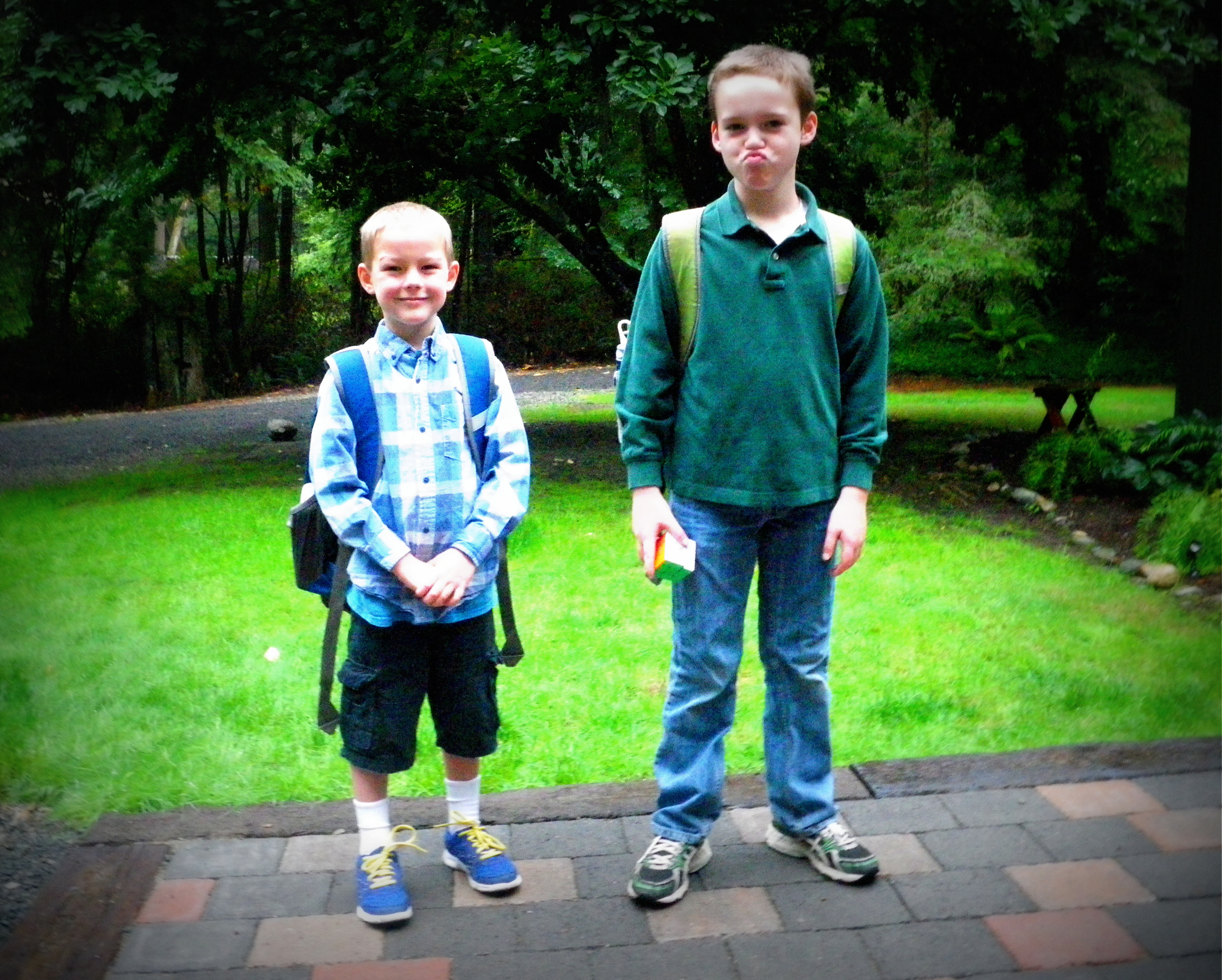 First day of K for Ben and Third Grade for Sam!