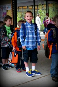 Ben at school ready to go in to class!