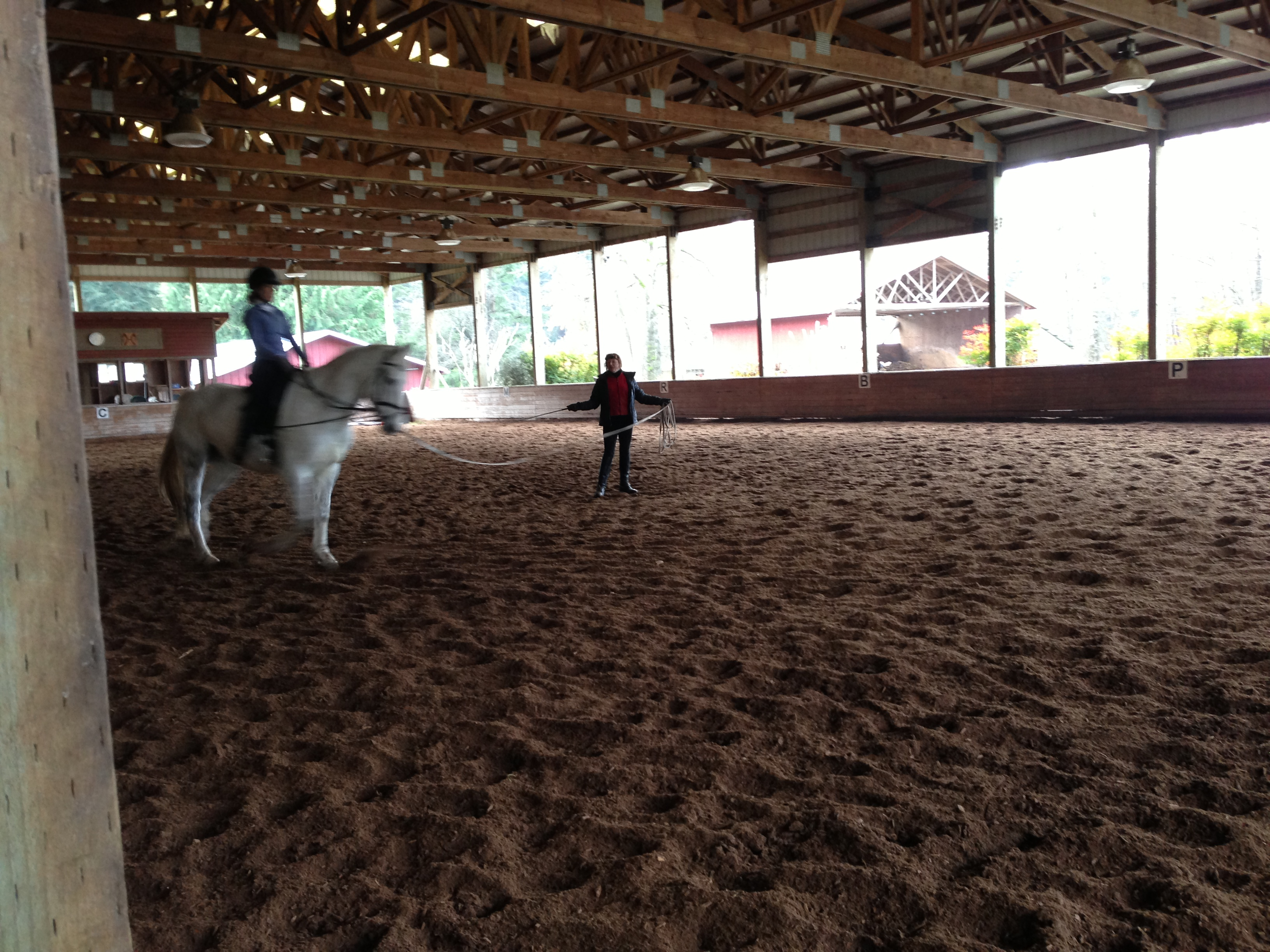 Riding lesson with Emmy!