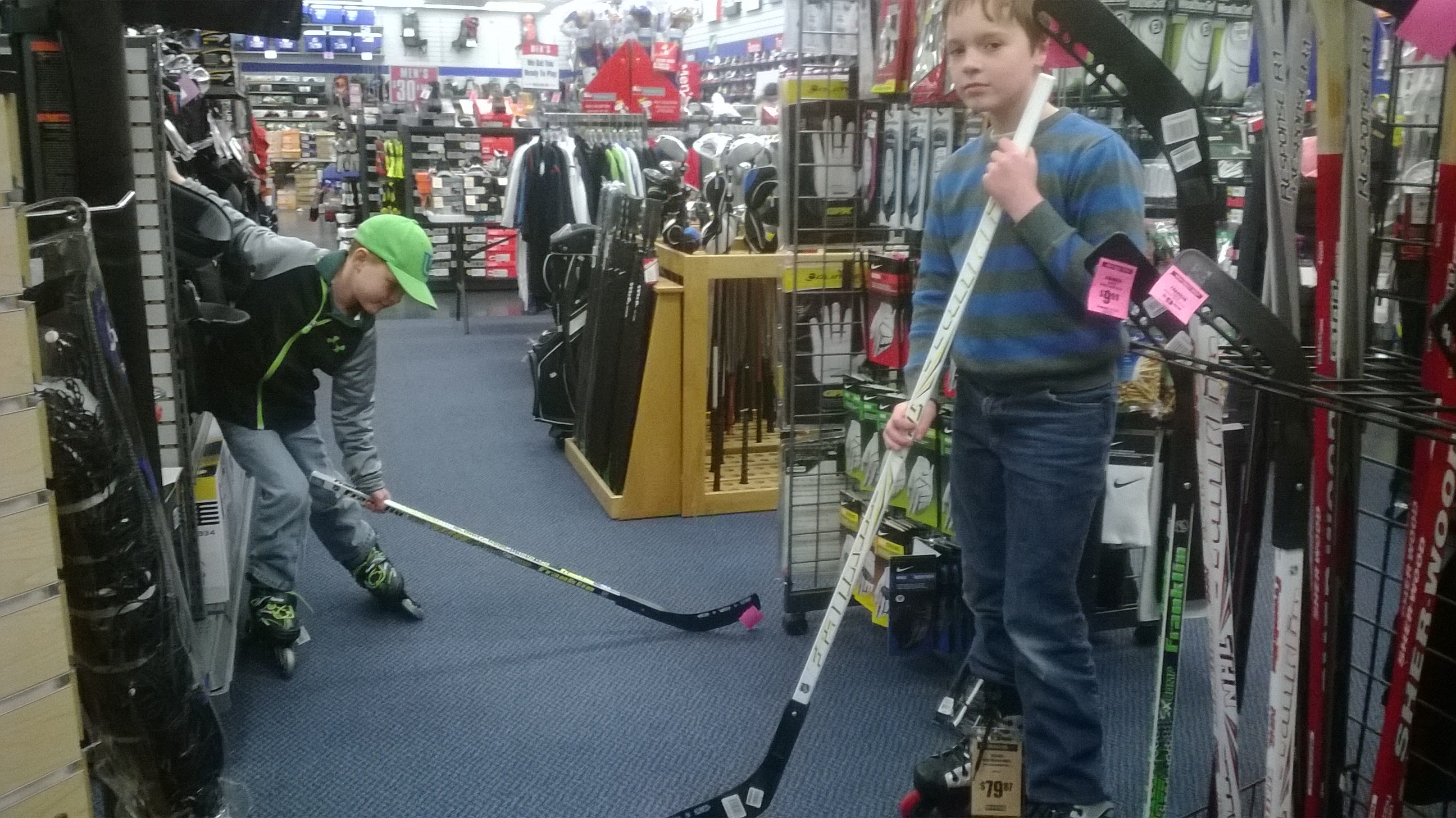 At Big 5 where they were very tolerant as we got some gear. This is a great store. Always good to us.
