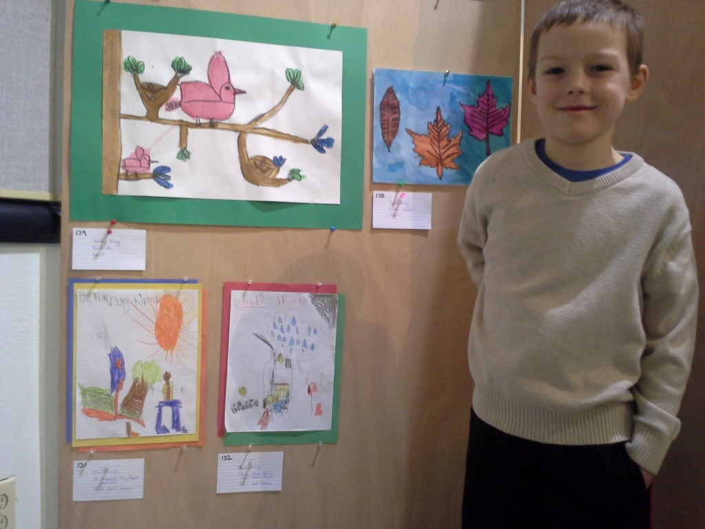Ben entered an art contest. His work was all original - he really loves to draw. Many of the other contestants entered what they had made in art class. I told Ben artists don't draw to win. They draw to share. Good for him.
