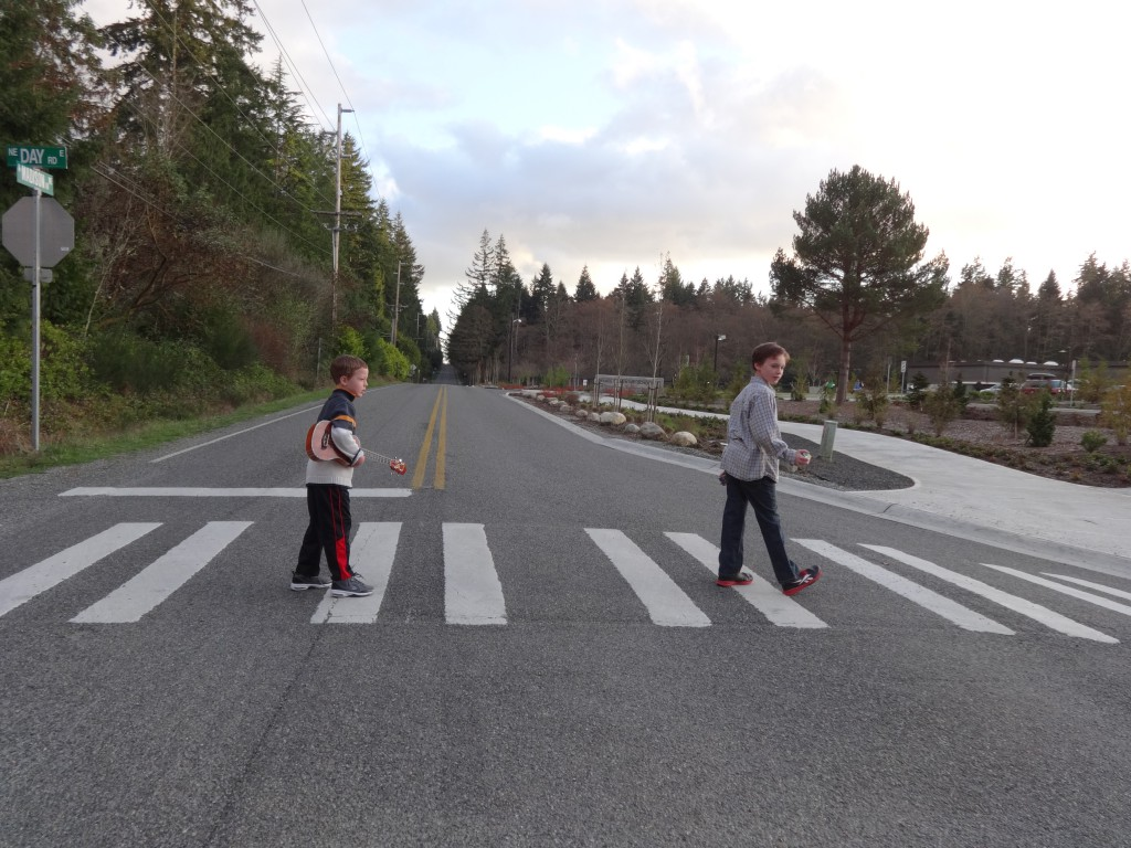 Abbey Road, anyone? The boys are off to the third and fourth grade talent show!