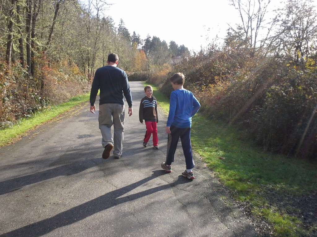 Out on a walk today - our first unscheduled day in 6 weeks! So nice to be together as a family with no commitments.