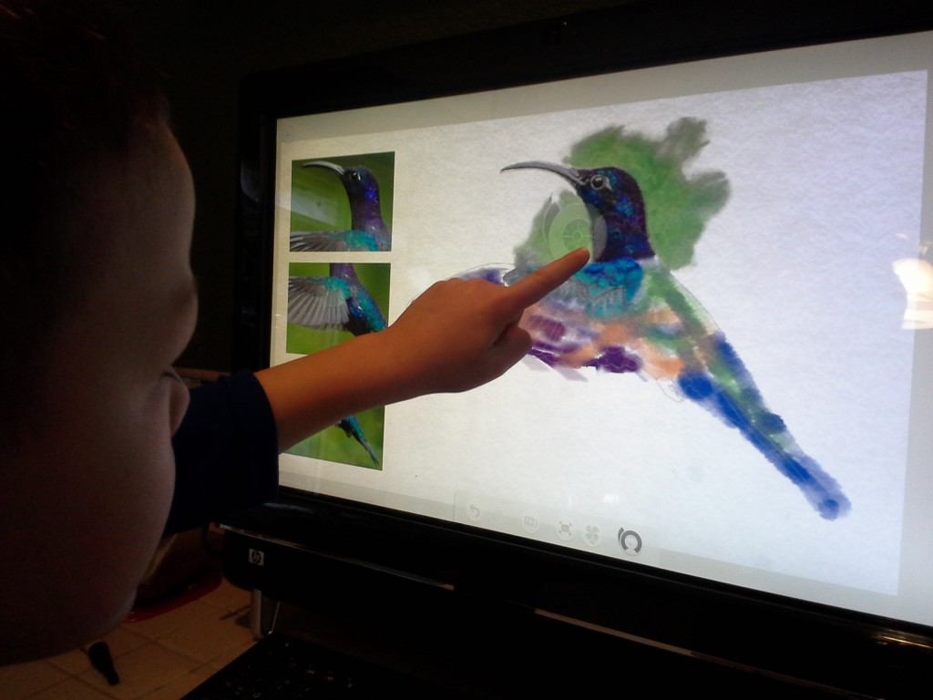 The Fresh Paint app for Windows 8 is just awesome. Ben really enjoyed learning how to mix colors and paint!