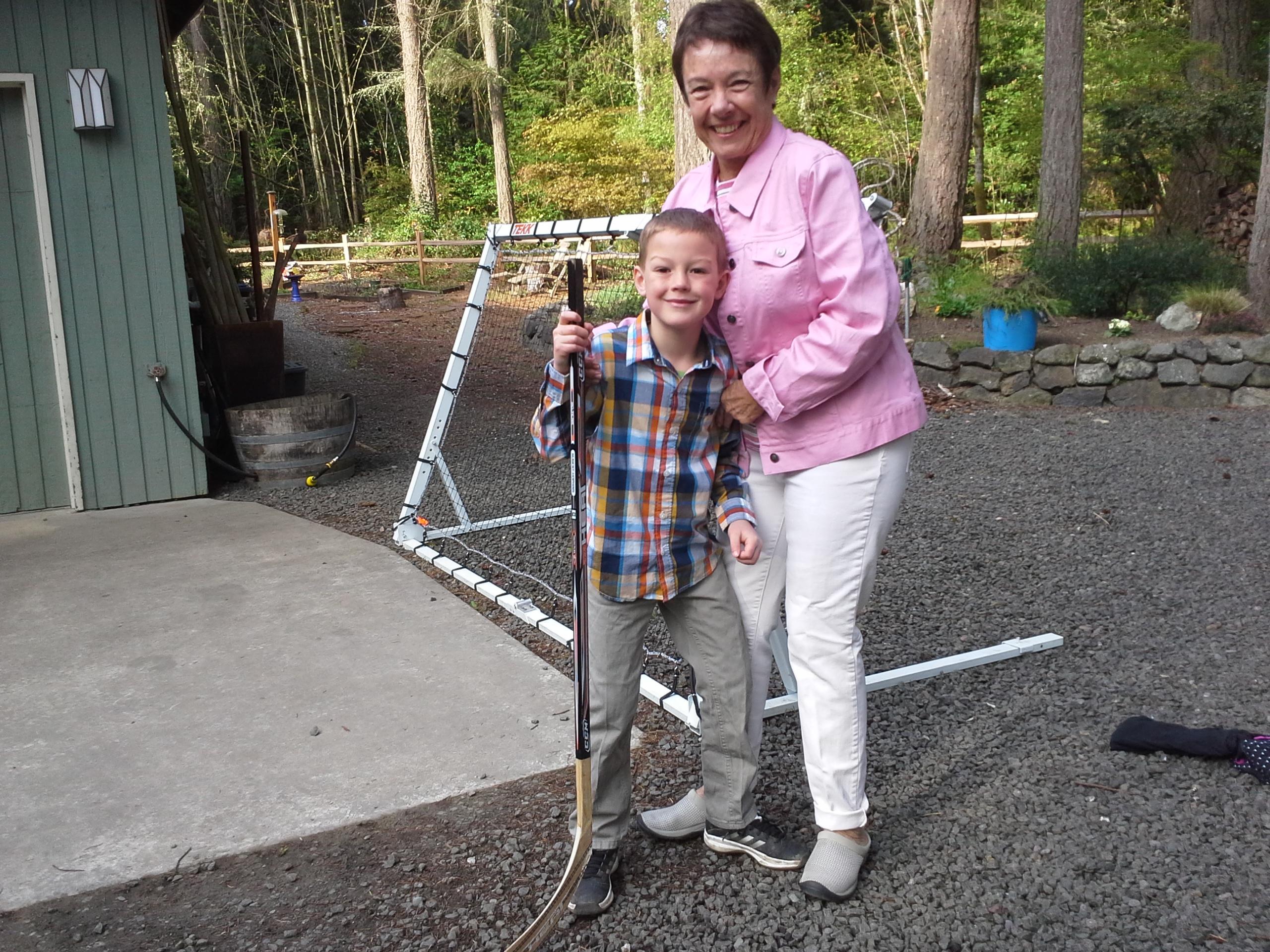Gramma and Benji before church!