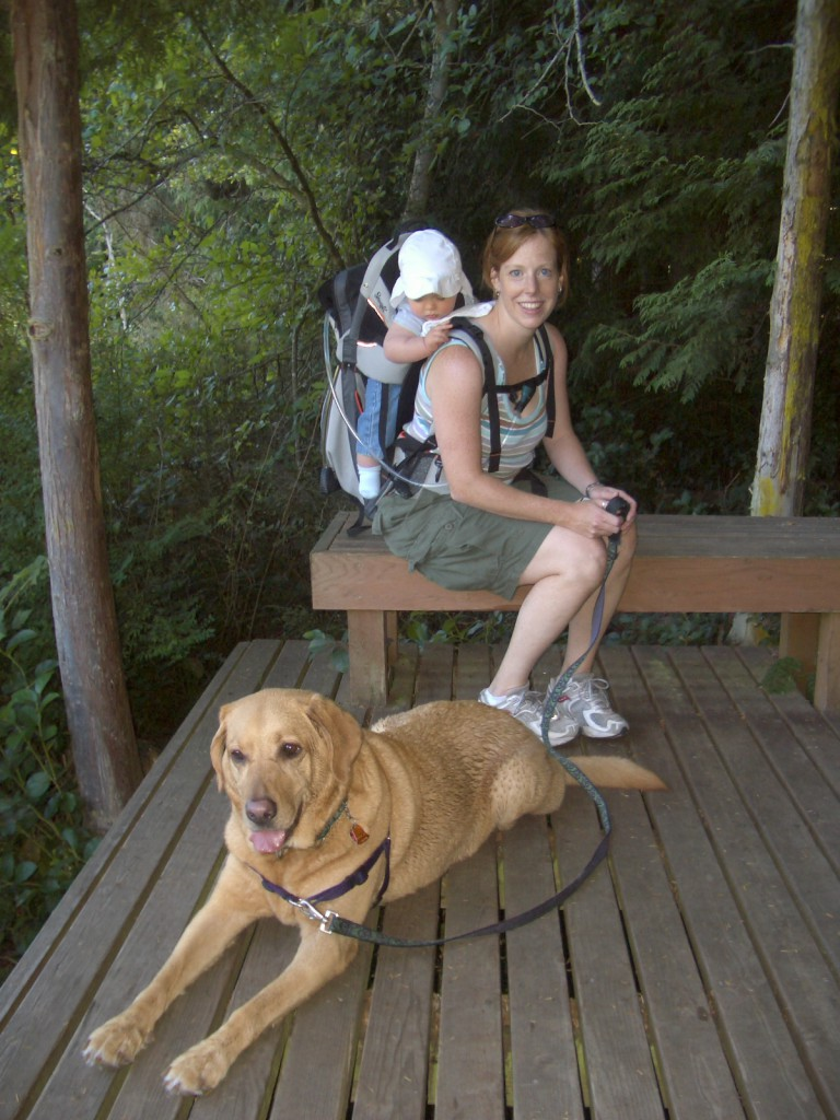 Hiking the Hansville Greenway when Sam was 9 months old :)