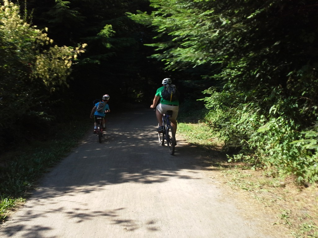 And breaking with tradition, we got off the island for some much needed family time on a nice bike path, 7 miles out from Port Townsend and back through woods and rolling hills. Happy Fourth, God Bless the USA!