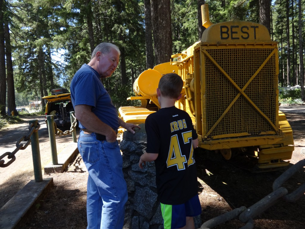 Richard telling Ben all about this old tractor. You are so wonderful, Richard, to take the time to explain everything.
