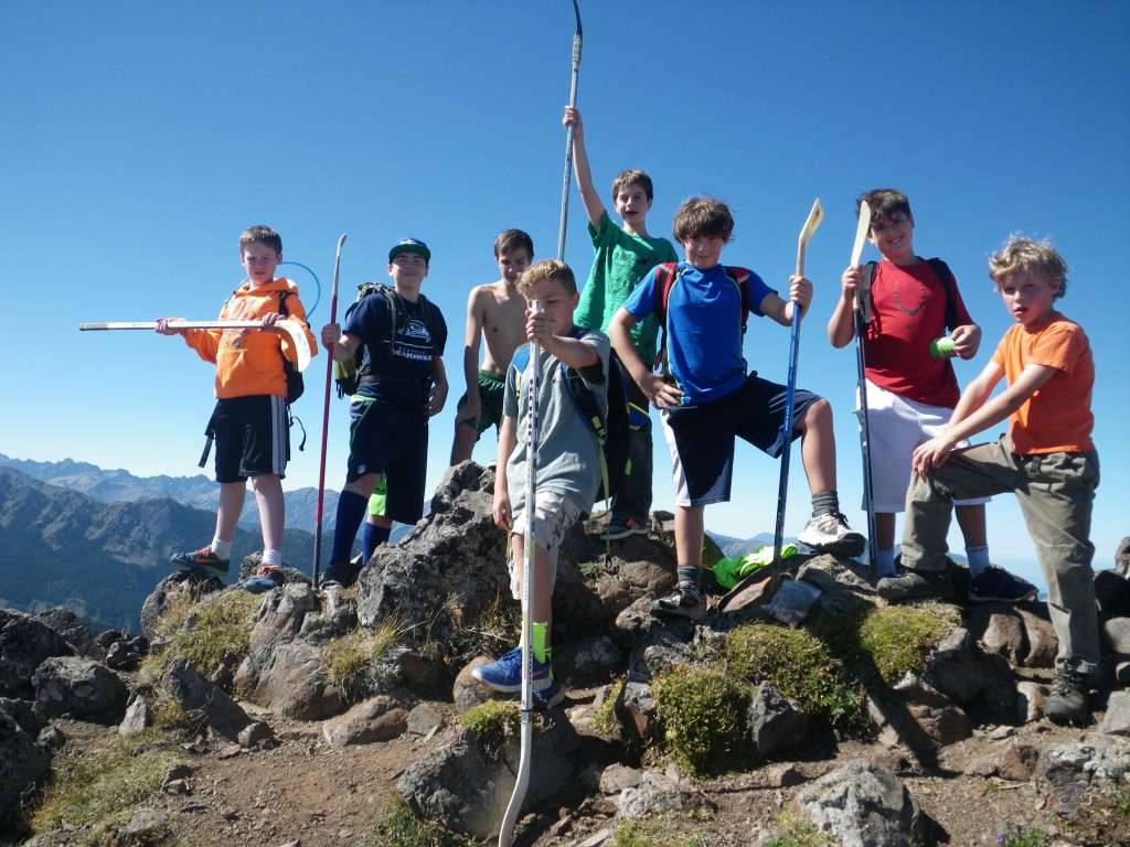 We used hockey sticks for trecking poles :)