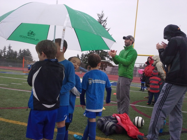 The weather has been really really cold, windy and wet this fall. Soccer has never been this much fun since I played in NJ! Still, the kids are all smiles and Ben continues to enjoy his time with the team. They are playing well together and winning some games, to boot.