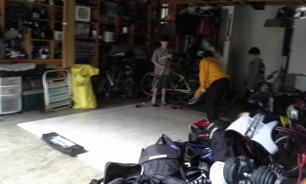 Shooting in the garage the next day while I tidy up the house and wash a dozen towels :)