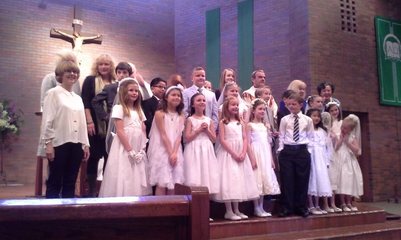 Ben and his First Communion class