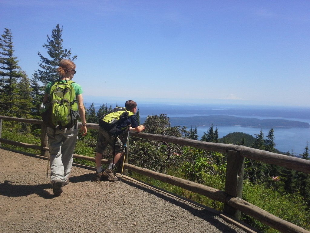 South view point - you can see all the way to Seattle.