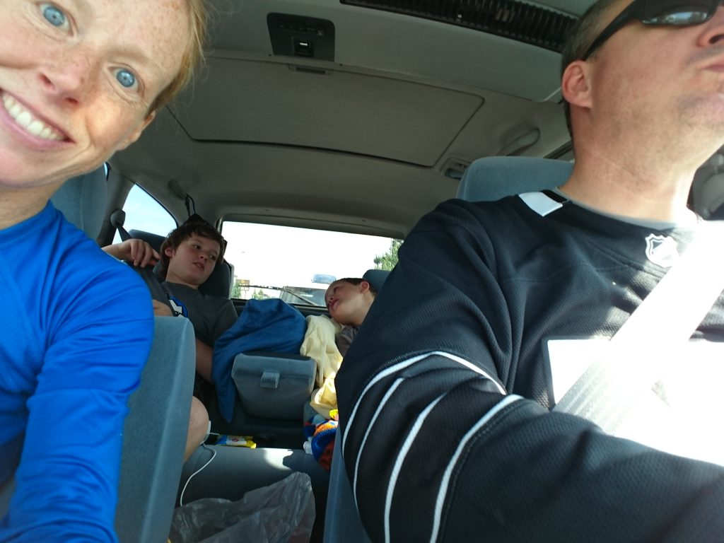 We are on our way back home now. Shockingly - back by noon and already up 9 hours with a hockey game and 4 hrs driving under our belts.