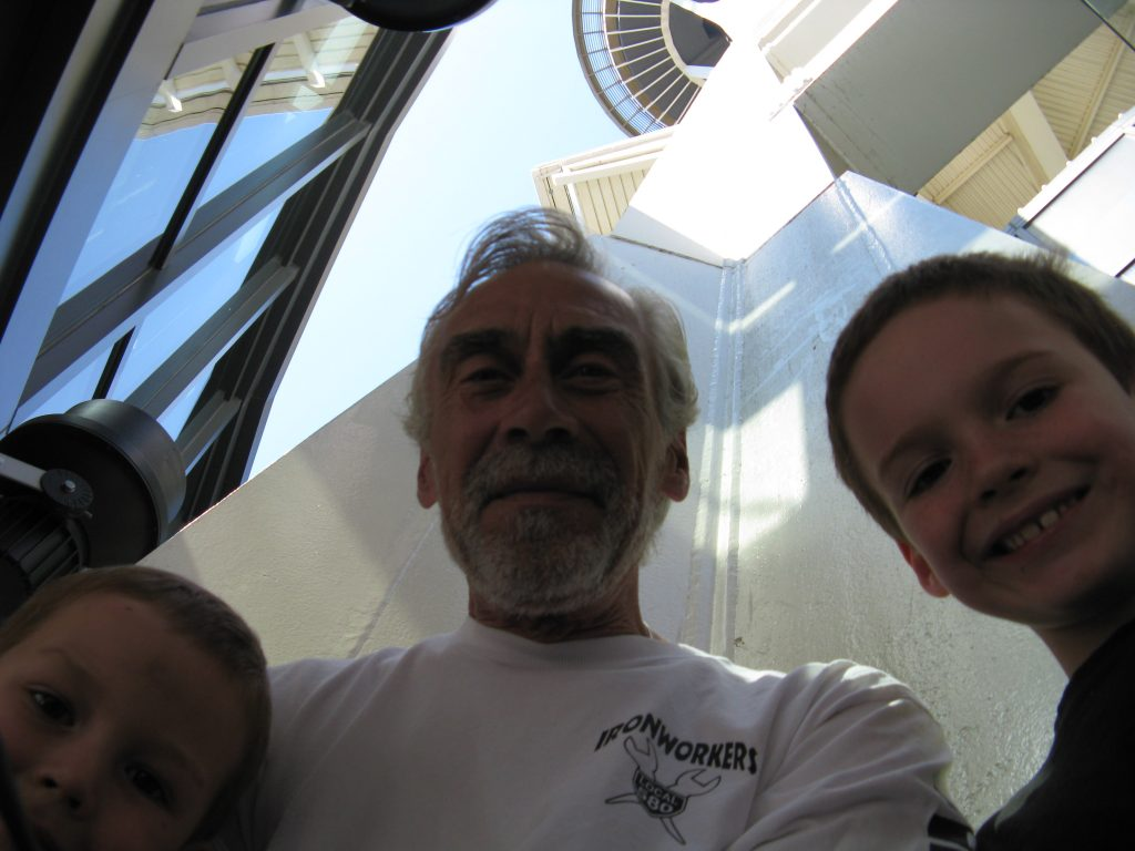 PopPop enjoyed seeing the Space Needle with the boys :)