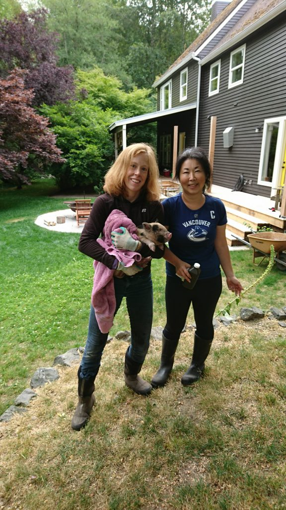 A pair of industrious farmers! Thank you, Kumiko, for ALL the adventures!